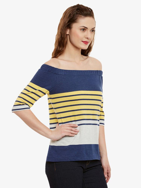 The Falling Stripes Bardot Top
