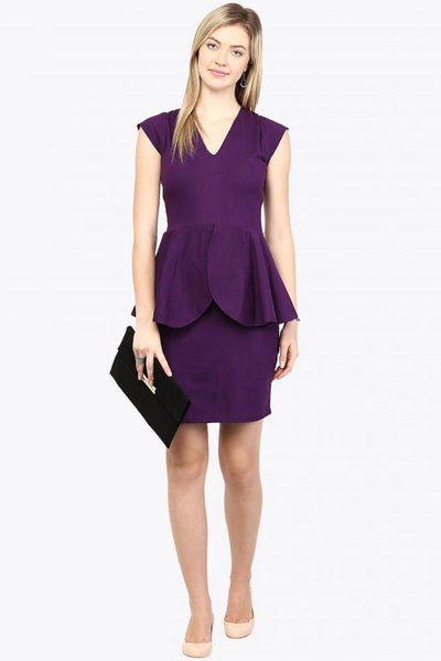 Chic Couture Peplum Dress