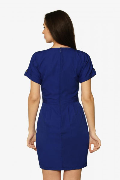Night Shift Belted Shift Dress