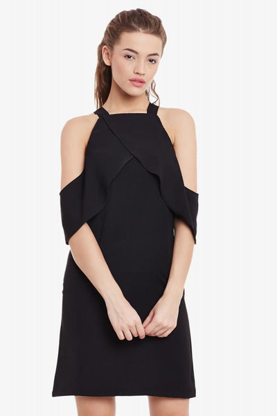 Thrill Seeker Cold Shoulder Dress