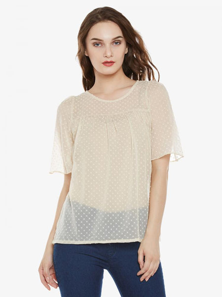 Silly Love Songs Sheer Top