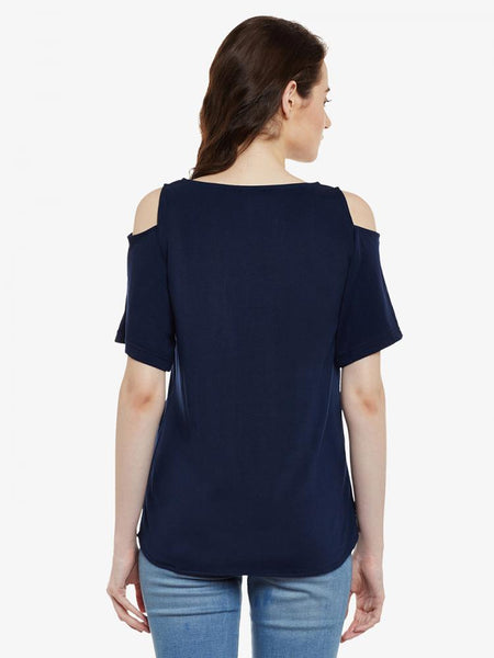 Take A Picture Shoulder Cut Out Top