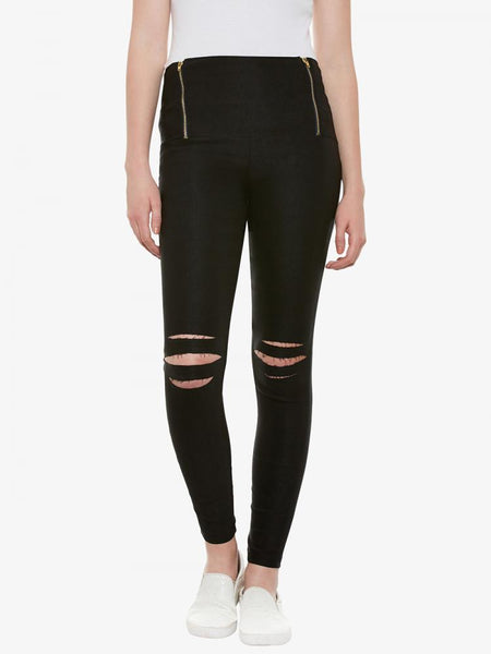 New Ladies Ripped Jeggings