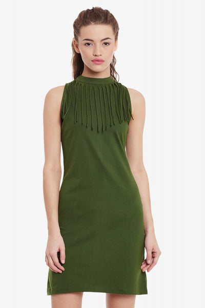 Binge On Fringe Bodycon Dress