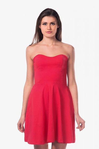 Whirl And Twirl Strapless Skater Dress