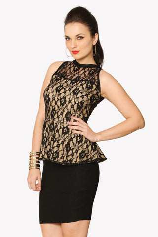 Lacey Temptations Peplum Top