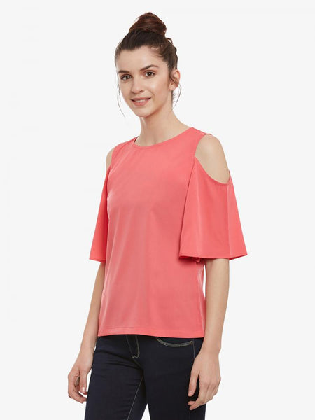 Last Call Cold Shoulder Top