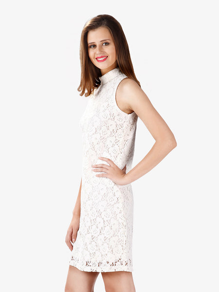 Straight To It Lace Shift Dress
