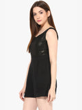 Black Magic Woman shimmer Playsuit