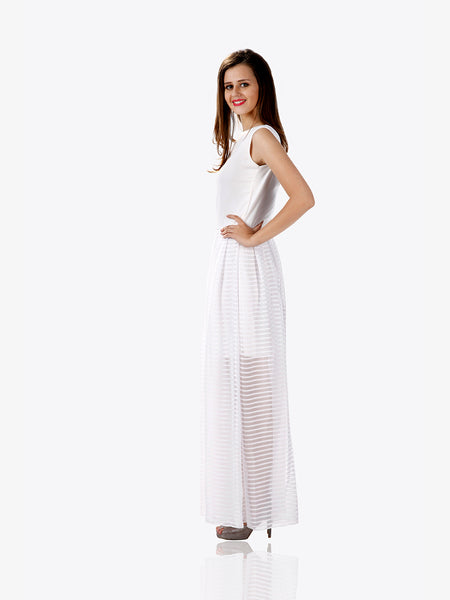 Serene and pure maxi dress