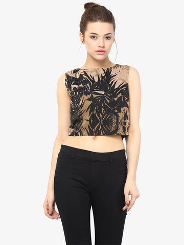 Spring calling printed crop top