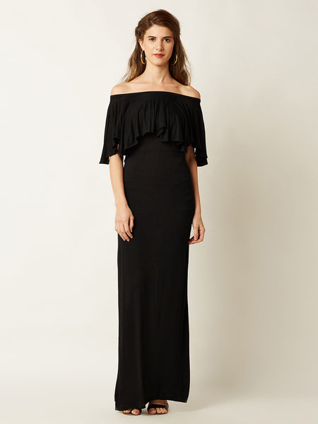 Ready For The Night Off Shoulder Maxi Dress