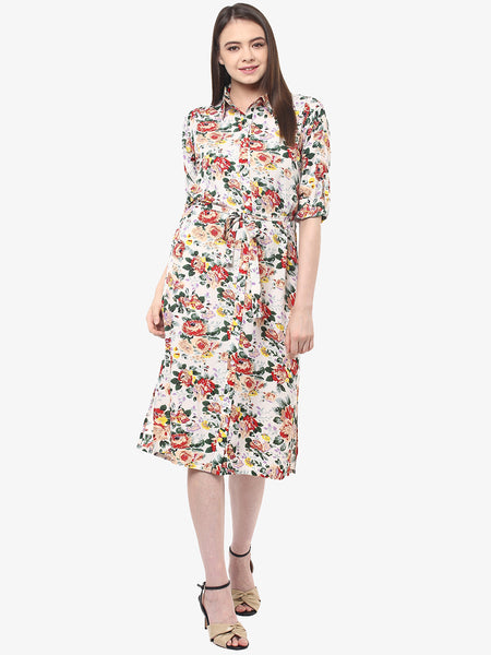 Sweet Sunshine Floral Shirt Dress