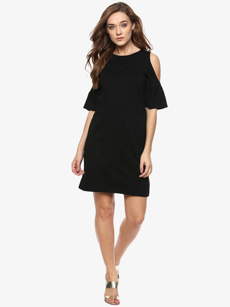 Playing Favourites Cold Shoulder Shift Dress
