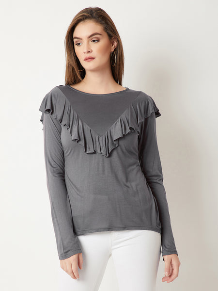 Let Your Mind Escape Ruffled Top