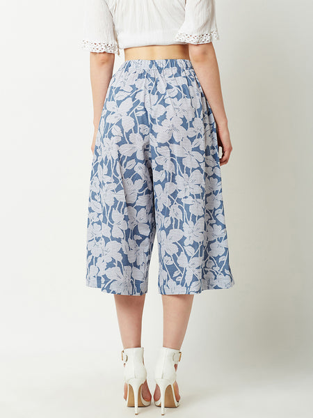 Start Lining Up Floral Culottes