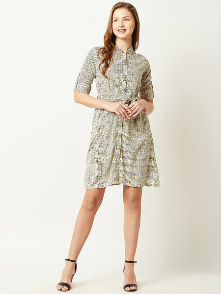 Track It Down Shirt Dress