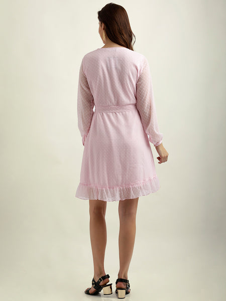 Fast Play Ruffled Skater Dress