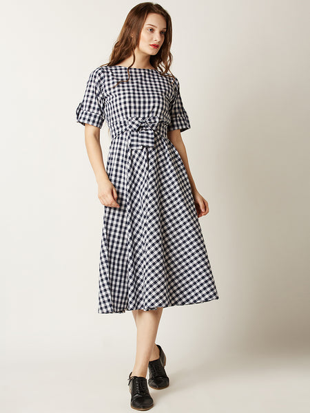 Small World Plaid Skater Dress