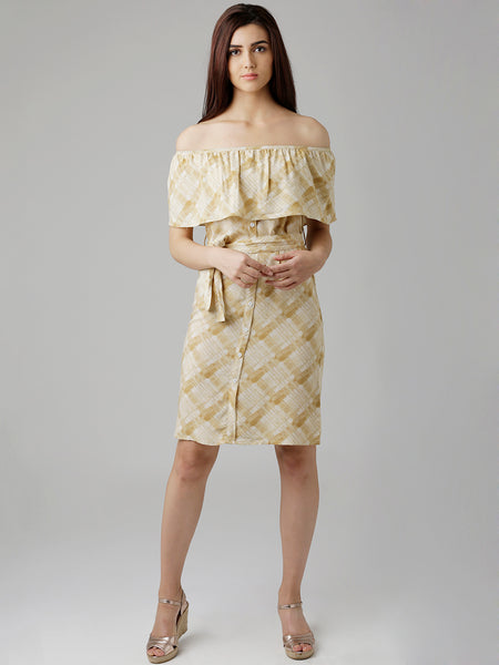 Tied To Love Bardot Shirt Dress
