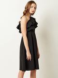 Lone Traveller One Shoulder Ruffled Dress
