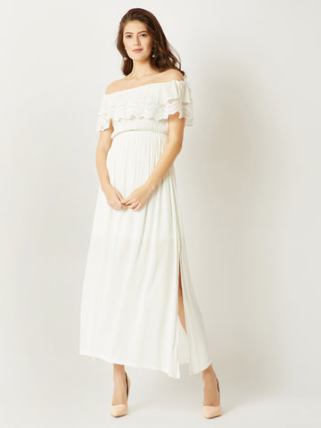 Come Find Me Bardot Maxi Dress