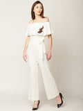 Flow Like Rose White Jumpsuit