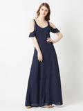 Can't Explain It Cold Shoulder Maxi Dress