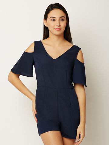 Slim Chances Cold Shoulder Playsuit