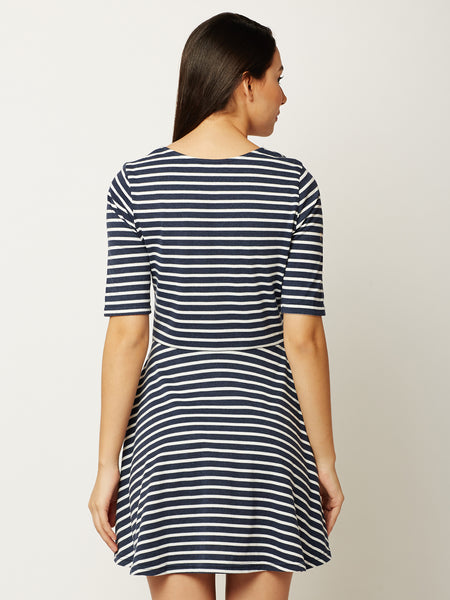 Glowing Love Striped Skater Dress