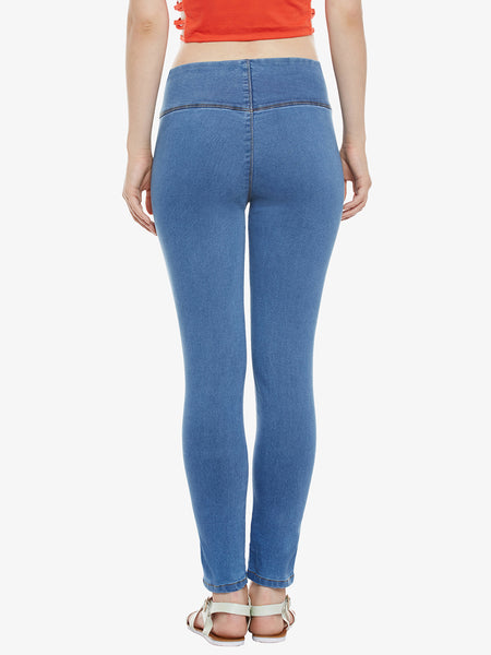 Cute Fancy Stretch Pushup Jeggings