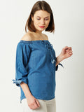 Soulmate Bardot Denim Top