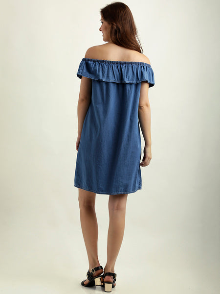 Another Dimensions Of Denim Bardot Dress