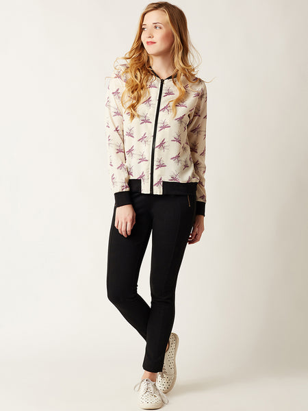 Lost And Found Printed Bomber Jacket