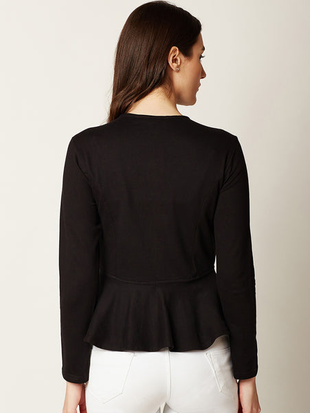 Quick Pick Panelled Peplum Jacket