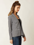 Warm To Hot Striped Blazer