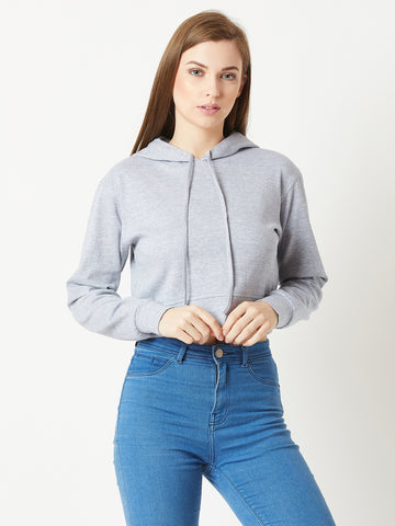 Believe Me In Hooded Crop Top