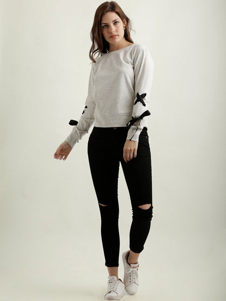 Sweet Romance Criss Cross Sweatshirt