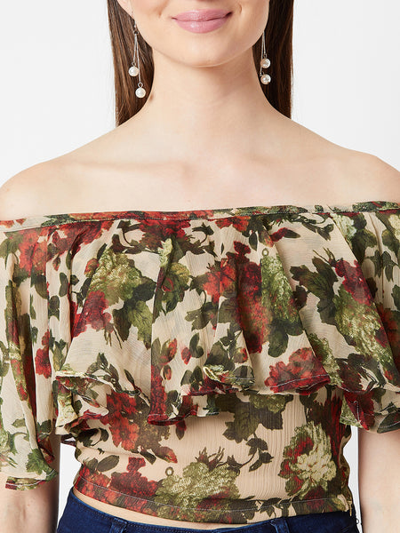 Shake Your Wild Printed Bardot Top