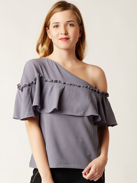Miss Chase Nearly There One Shoulder Top clothing