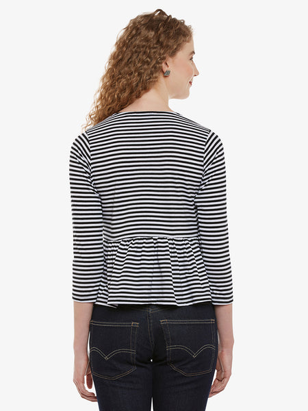 Carry On Patched Monochrome Top