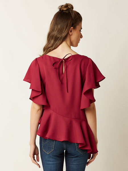 Mystic Night Ruffled Top