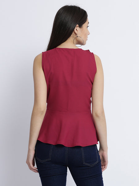 So Much To Give Peplum Top