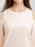 Warm Hearts Shoulder Cut Out Top