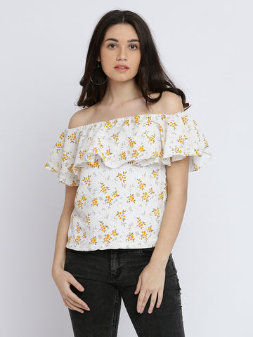 Own It Floral Bardot Top