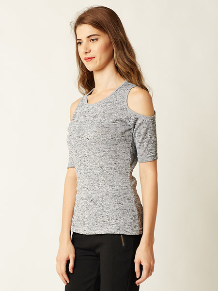 Every Evening Cold Shoulder Top