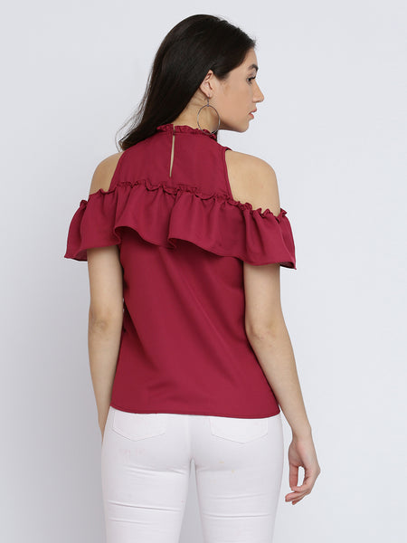 Careless Whisper Shoulder Cut Out Top