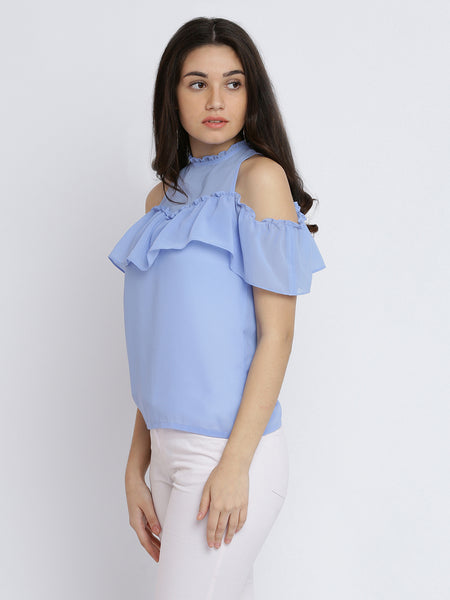 Hands To The Sky Shoulder Cut Out Top