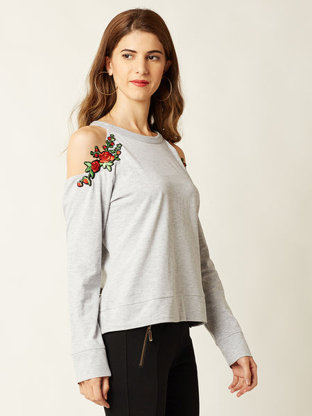 Feel The Rhythm Cold Shoulder Top