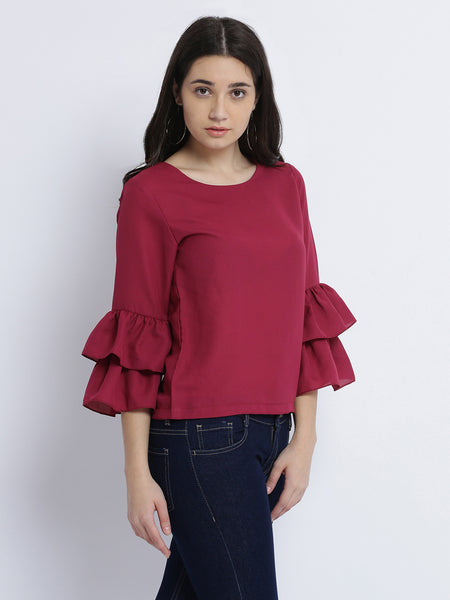 Strong Feeling Ruffled Top